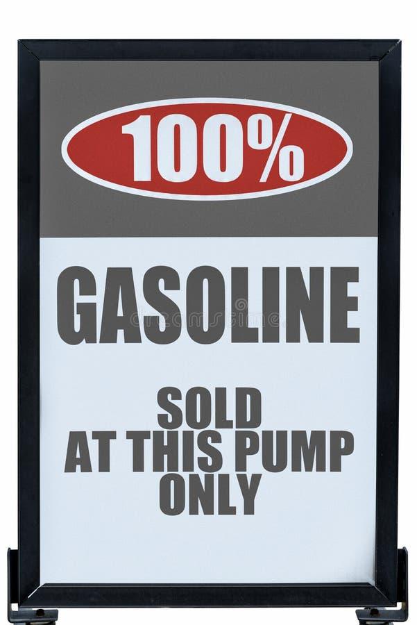 Benzin ohne Äthanol-Zeichen stockbild