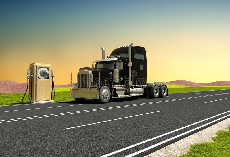 Benzina. royalty illustrazione gratis