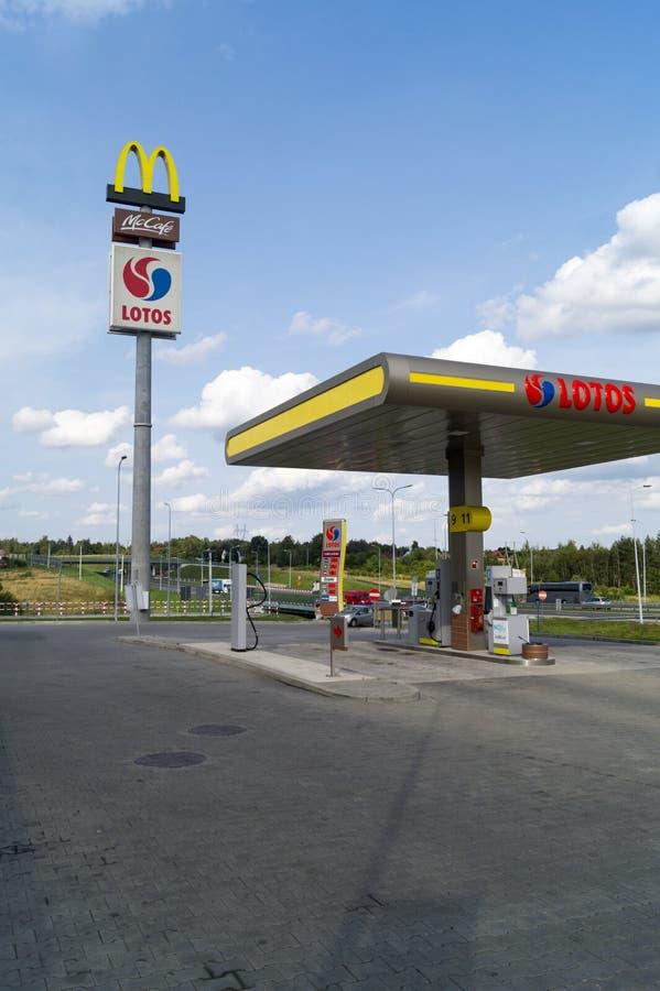 Benzina di Lotos fotografia stock libera da diritti