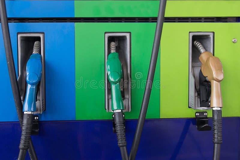 Benzina di olio combustibile variopinta fotografie stock libere da diritti