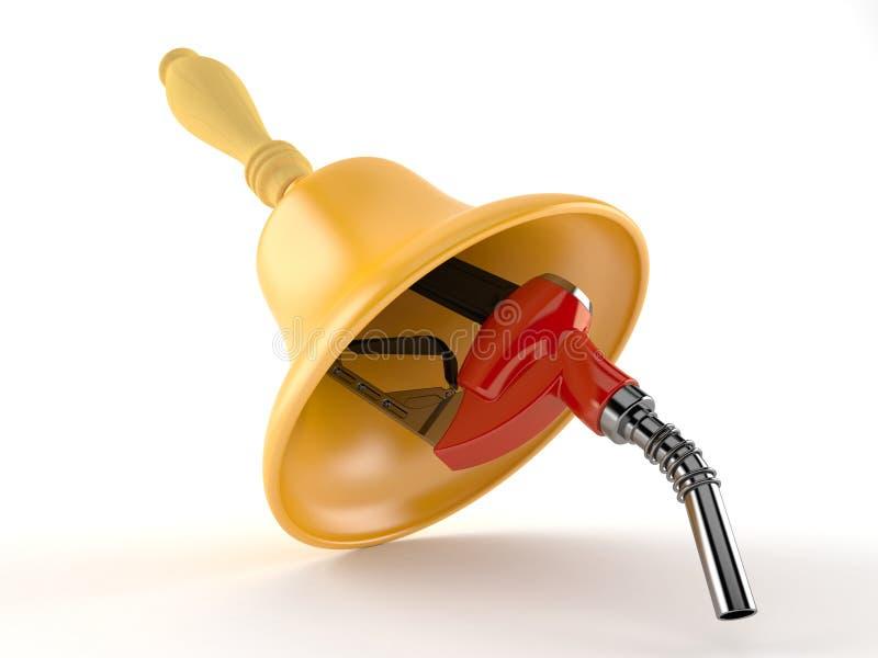Benzindüse mit Handglocke lizenzfreie abbildung