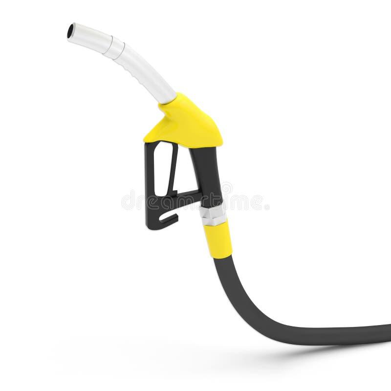 Benzindieselkraftstoffpistolengriff stock abbildung