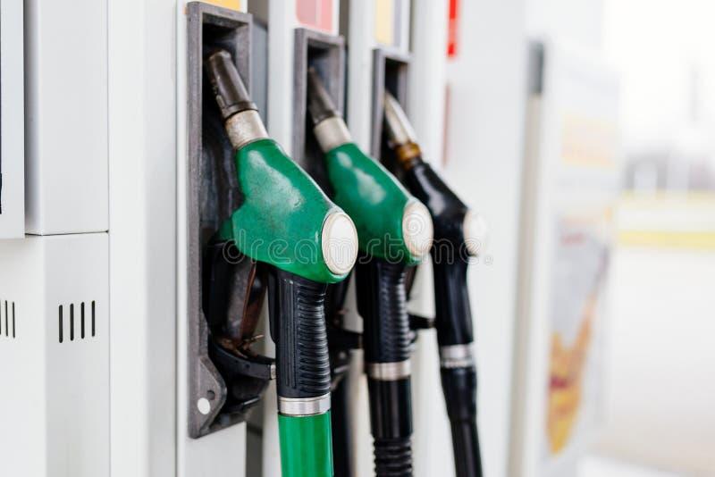 Benzine en diesel verdeler stock afbeelding
