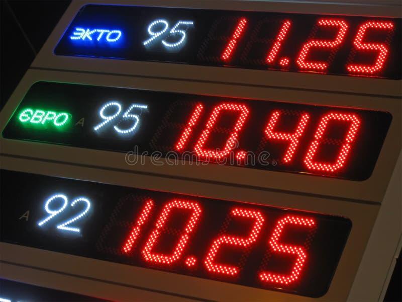 Download Benzine Price Diversity, Night Power Illumination, Stock Photo - Image: 23005256