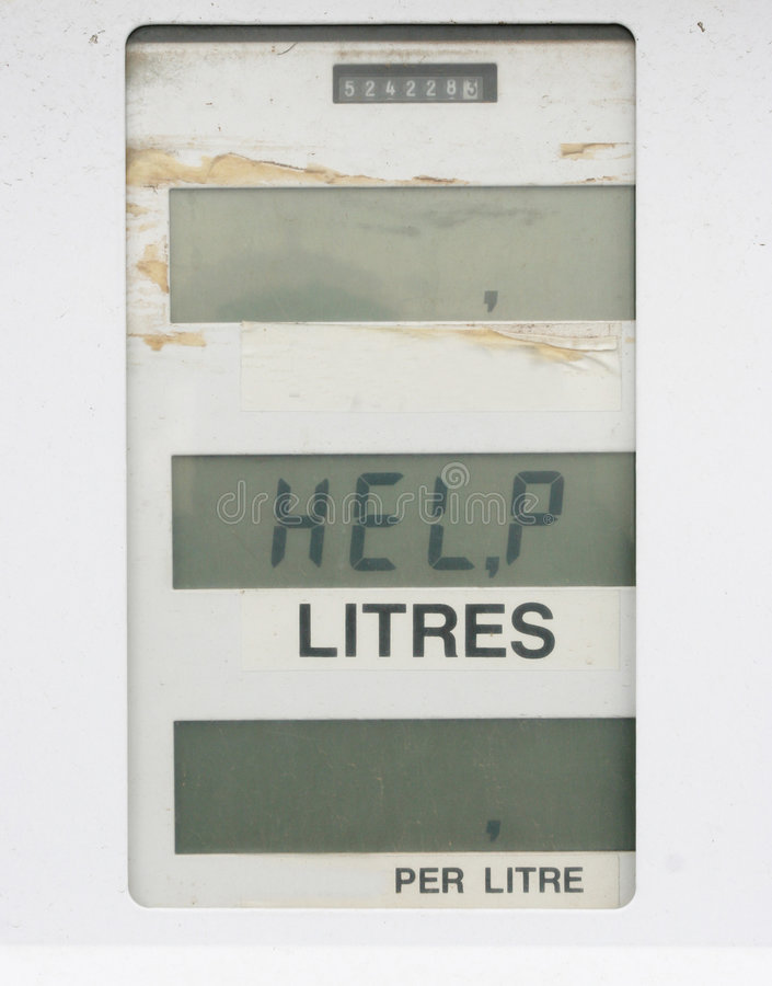Benzinepomp Die één Of Andere Hulp Vergt Royalty-vrije Stock Foto