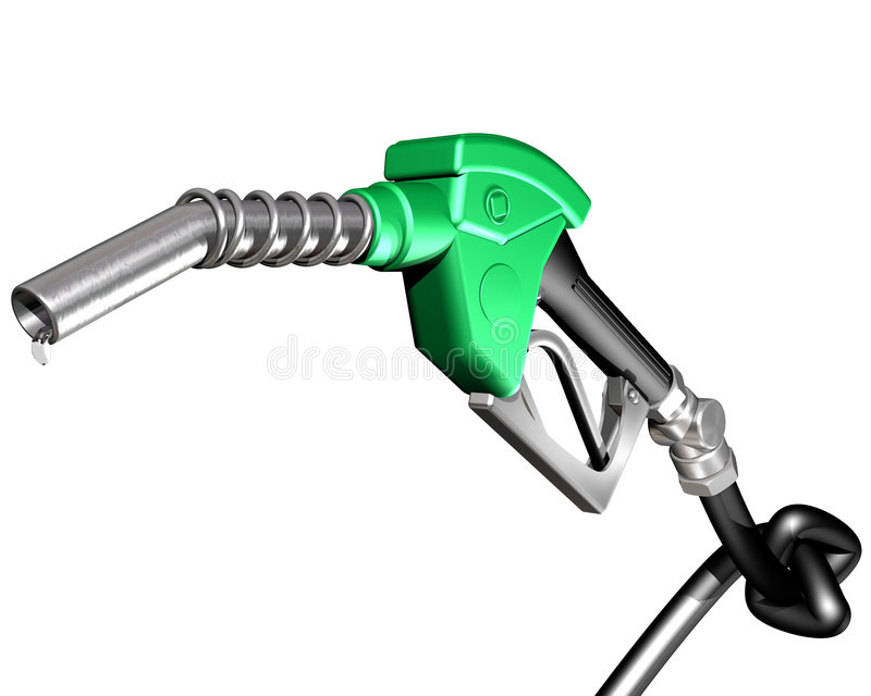 Benzinepomp met geknoopte slang vector illustratie
