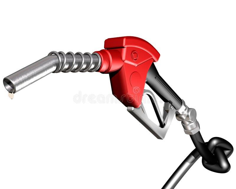 Benzinepomp met geknoopte slang royalty-vrije illustratie