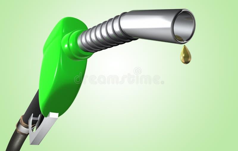 Benzinepomp met schone brandstof stock illustratie