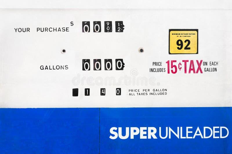 Benzinepompgezicht royalty-vrije stock foto's