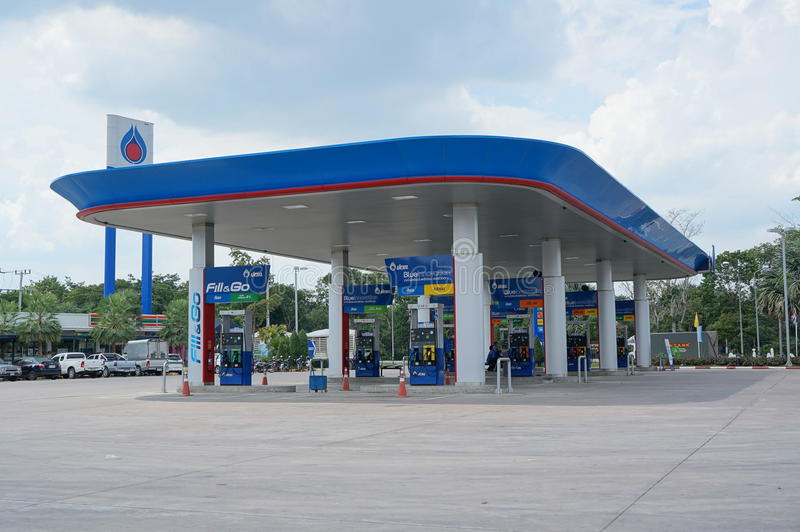 Benzineposten royalty-vrije stock afbeeldingen