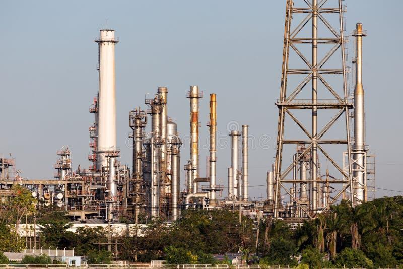 Benzineraffinaderij royalty-vrije stock foto
