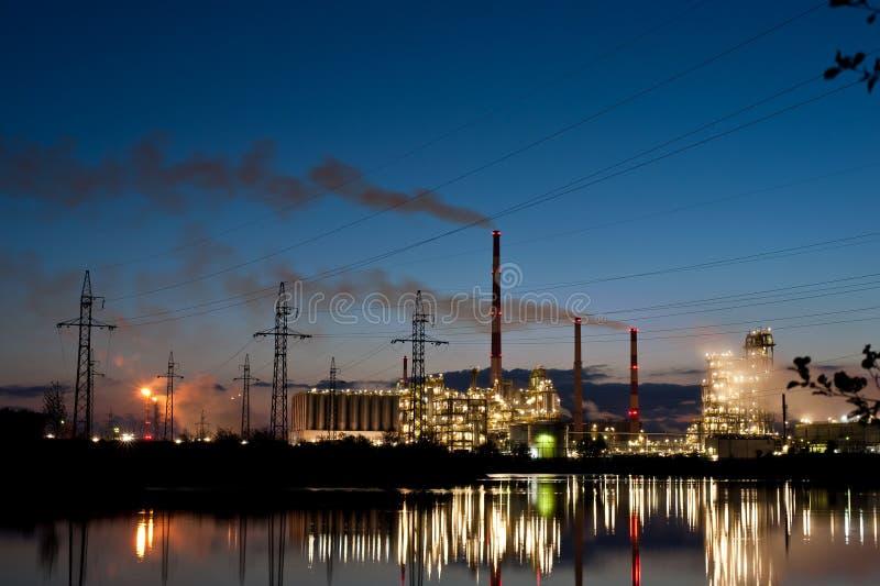 Benzineraffinaderij ORLEN stock foto