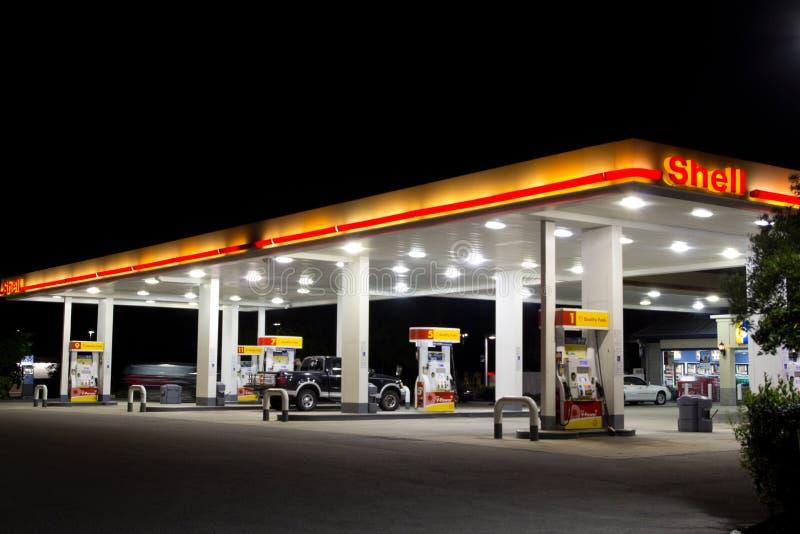Benzinestation stock foto's
