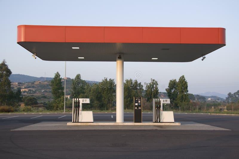 Benzinestation stock afbeelding