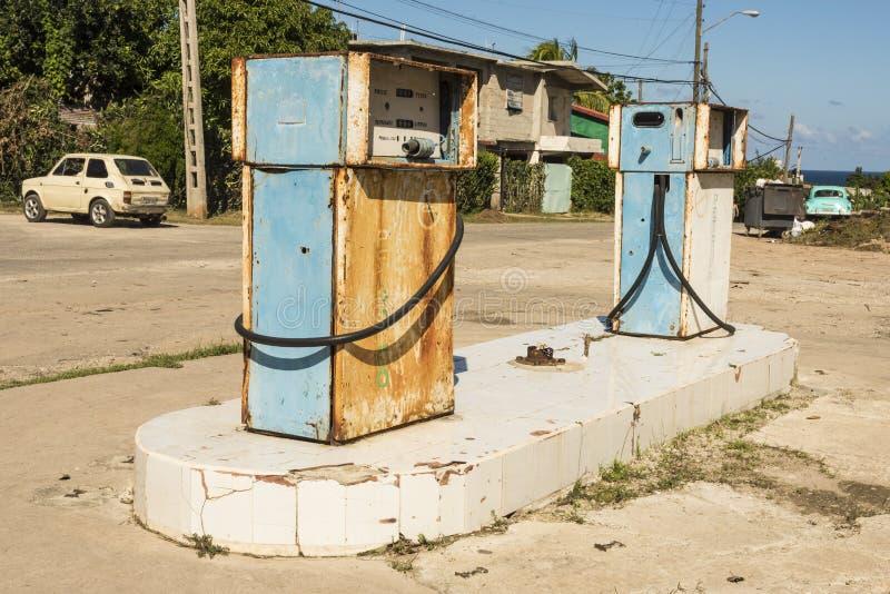 Benzinestation Cojimar Cuba royalty-vrije stock foto's