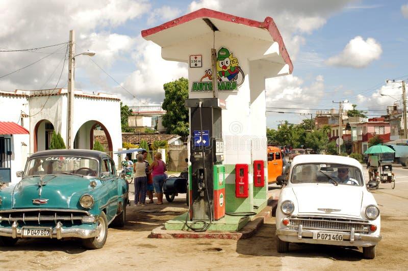 Benzinestation in Cuba stock afbeeldingen