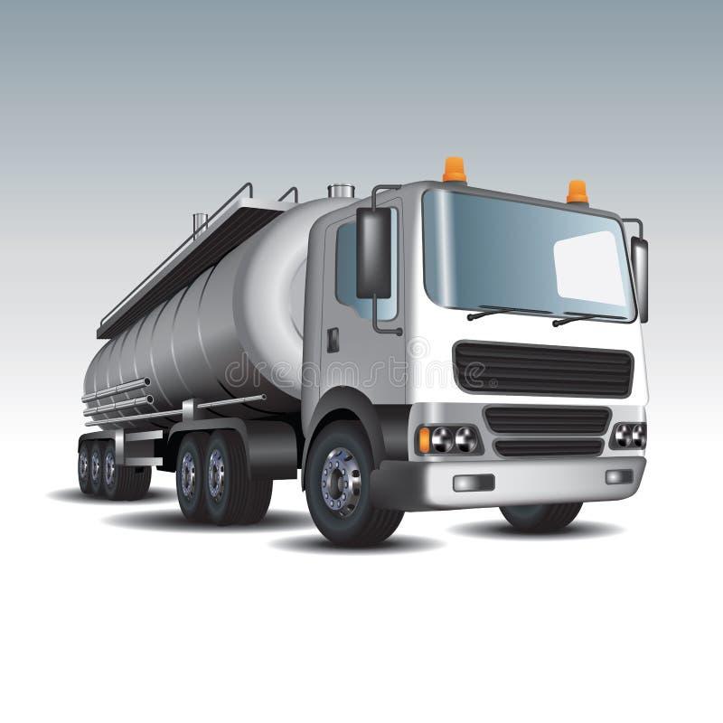 Benzinetankwagen royalty-vrije illustratie