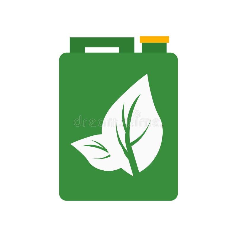 Benzinikonenvektorzeichen und -symbol lokalisiert auf weißem Hintergrund, Benzinlogokonzept stock abbildung