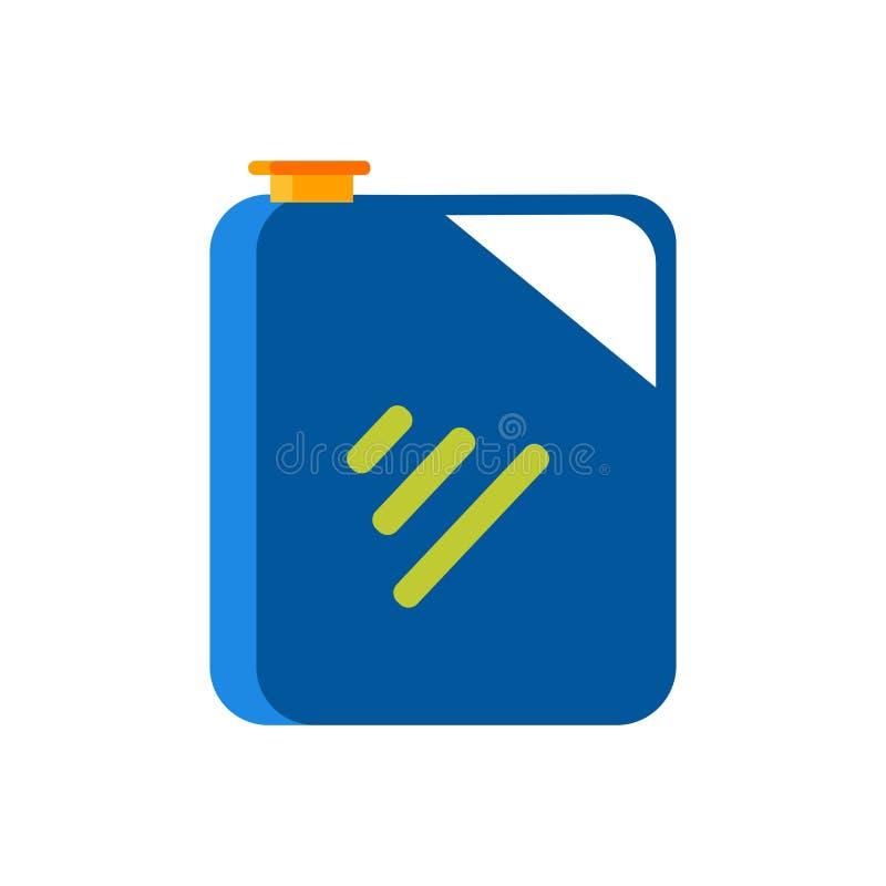 Benzinkanisterikonenvektorzeichen und -symbol lokalisiert auf weißem Hintergrund, Benzinkanisterlogokonzept stock abbildung