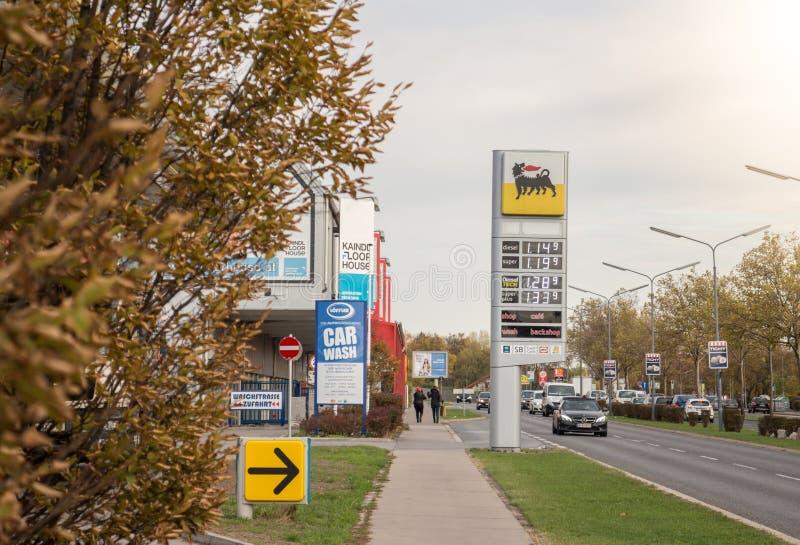 Benzinpreisinformationen lizenzfreie stockbilder