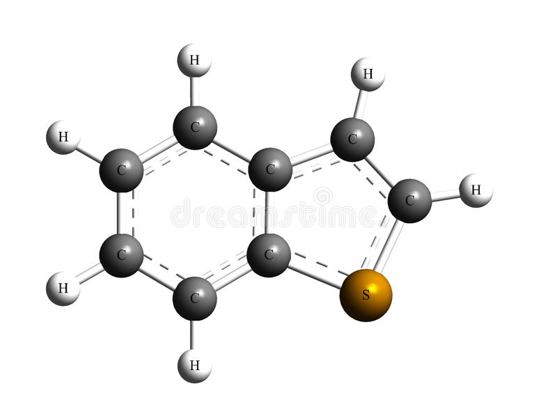 Benzothiophene illustrazione di stock