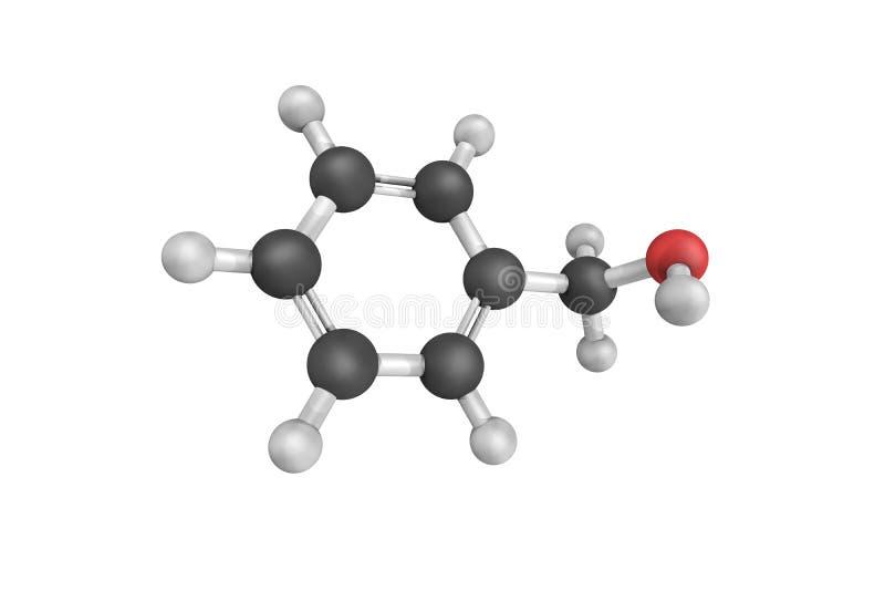 Benzyl alkohol är en aromatisk alkohol som är användbar som en vätska Det är arkivfoton