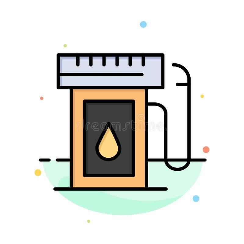 Benzyna, przemysł, olej, Opadowy Abstrakcjonistyczny Płaski kolor ikony szablon ilustracji