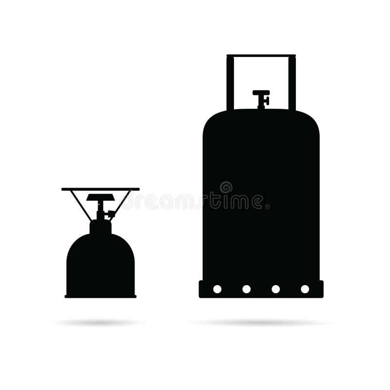 Benzynowa butla ustawiająca w czarnej kolor sztuki ilustraci ilustracja wektor