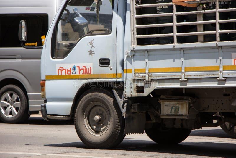 Benzynowa ciężarówka Unic firma gazowa zdjęcie royalty free
