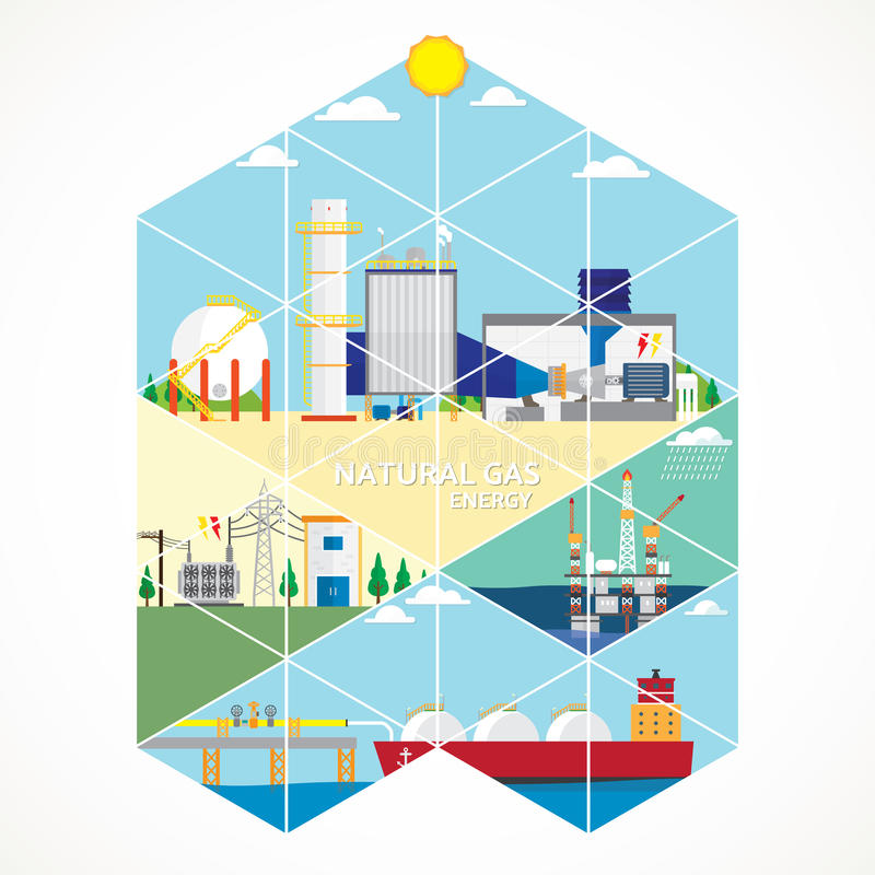 Benzynowa energia ilustracji