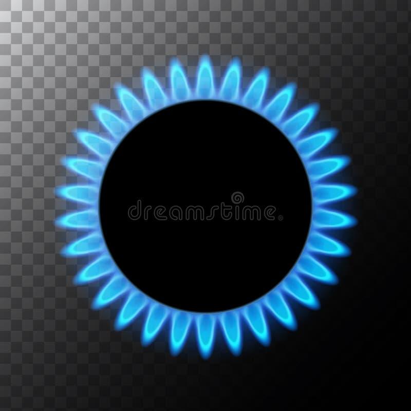 Benzynowa p?omienia b??kita energia Benzynowej kuchenki palnik dla gotowa? Pożarnicza upał propan lub butan naturalna władza odiz royalty ilustracja