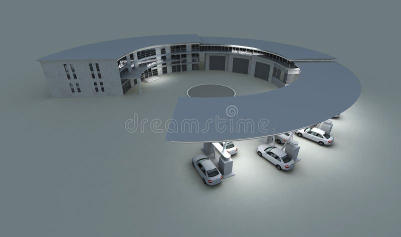 benzynowa stacja ilustracja wektor
