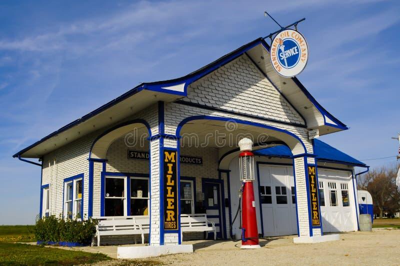 benzynowa stara stacja zdjęcie royalty free