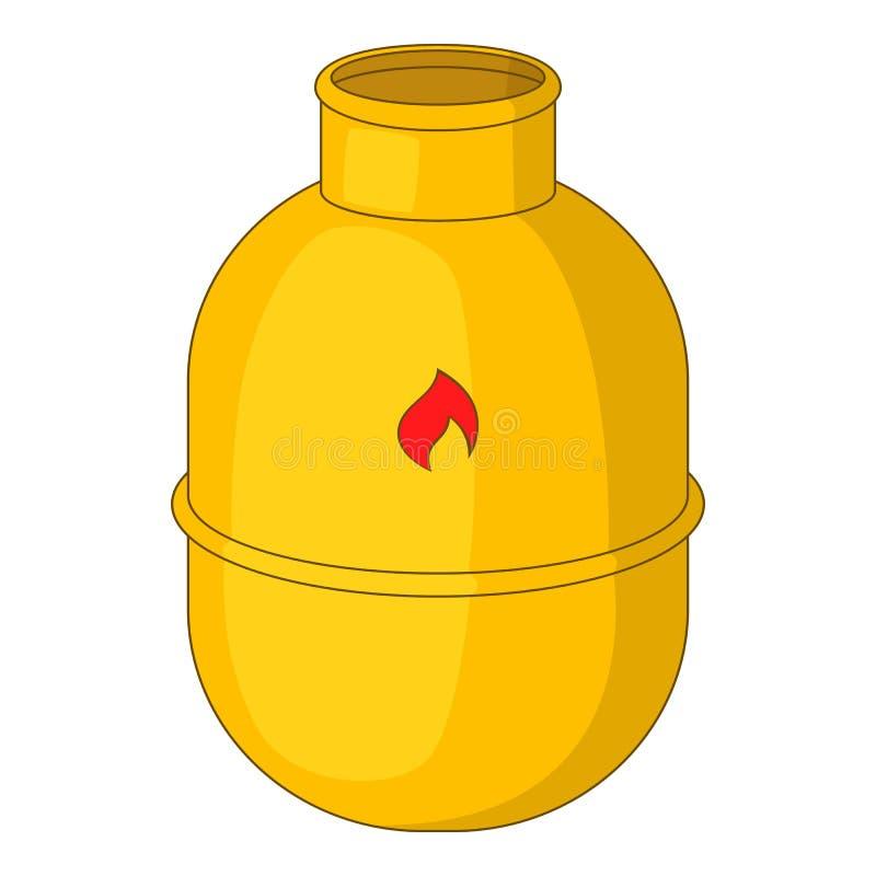 Benzynowej butelki ikona, kreskówka styl ilustracja wektor