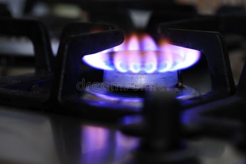 Benzynowej kuchenki palnika zbliżenie zdjęcie stock