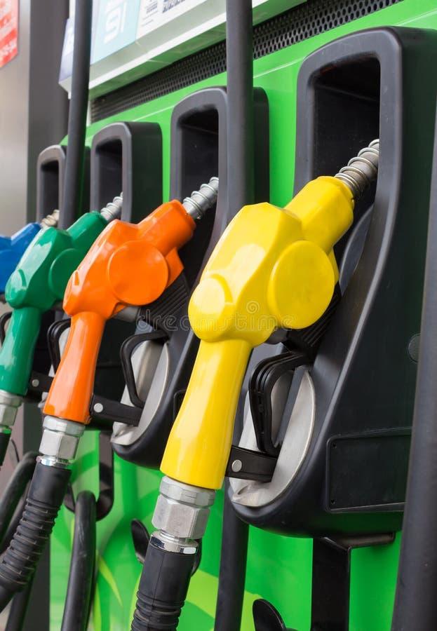 Benzynowej pompy nozzles obrazy stock