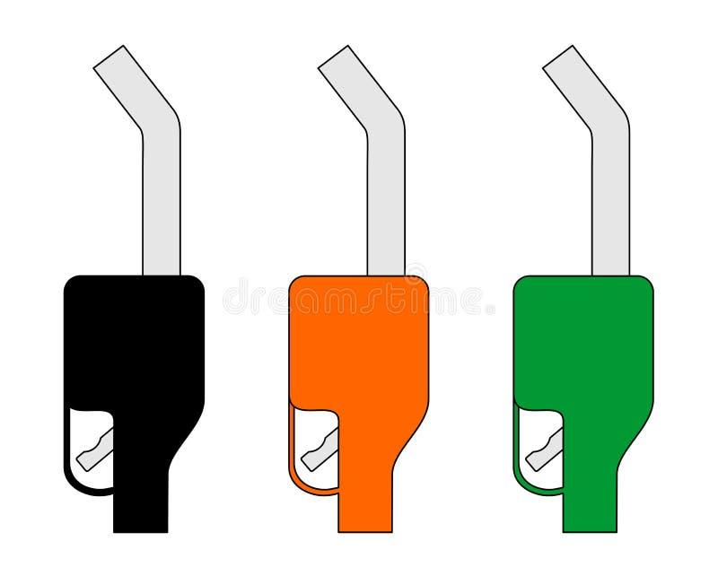 Benzynowej pompy ustalona ikona ilustracja wektor