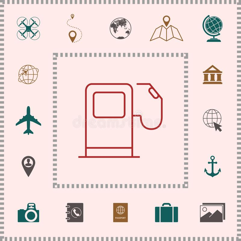 Benzynowej staci ikona ilustracja wektor