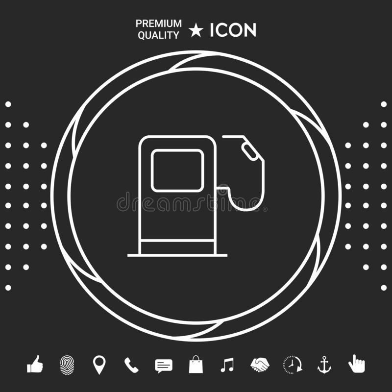Benzynowej staci ikona Graficzni elementy dla twój designt royalty ilustracja