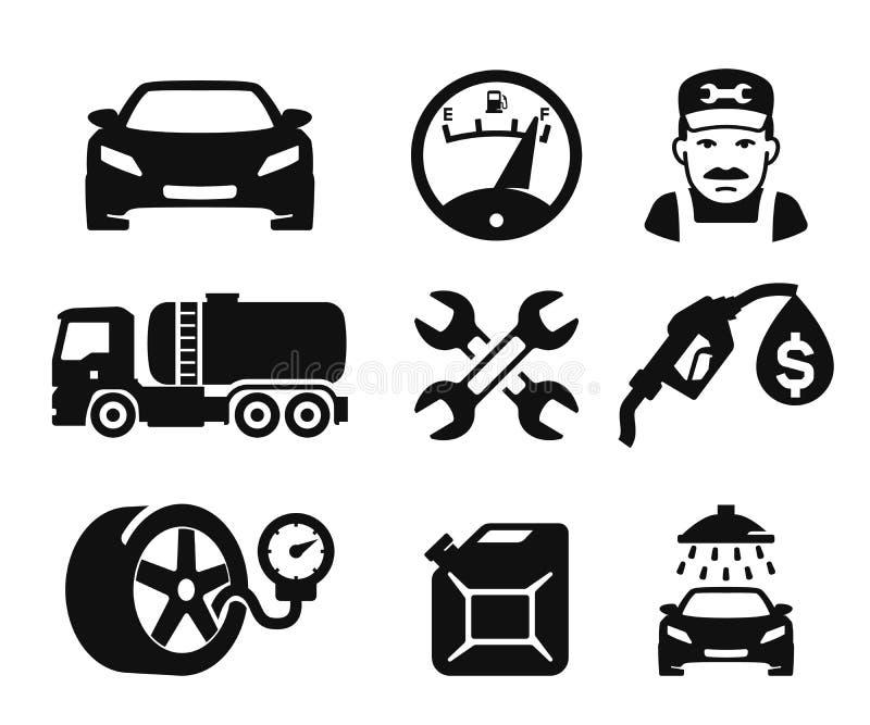 Benzynowej staci ikony royalty ilustracja