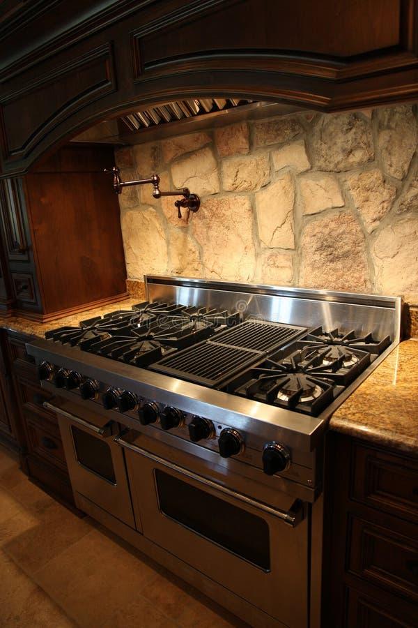 benzynowy domowy piekarnika stali nierdzewnej kuchenki tennesee obraz stock