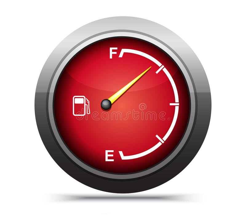 Benzynowy gage ilustracja wektor