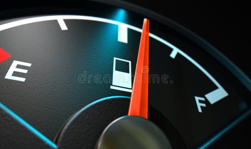 Benzynowy Gage Iluminująca połówka ilustracji