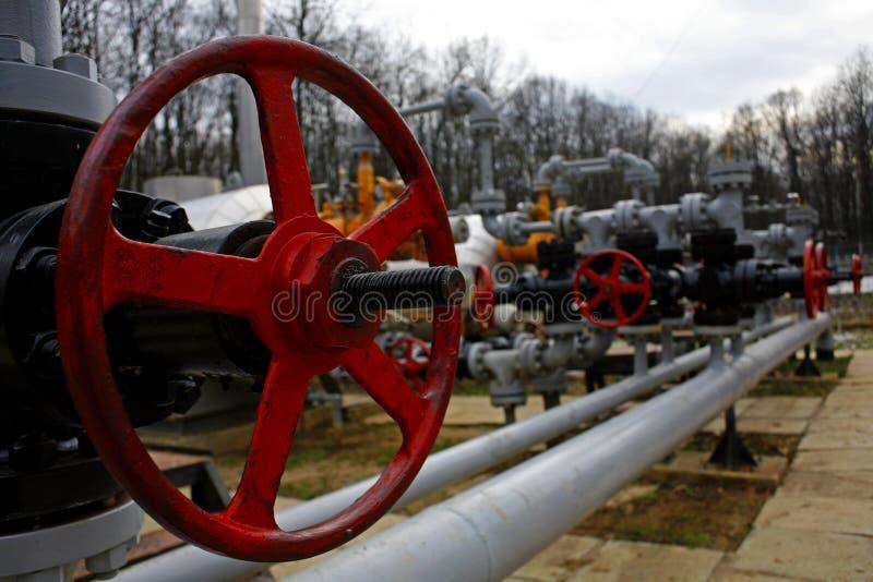 Benzynowy instalation obraz stock