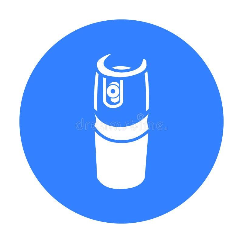 Benzynowy kanister ikony czerń Pojedyncza broni ikona od dużych amunicj, ręki ustawiać royalty ilustracja