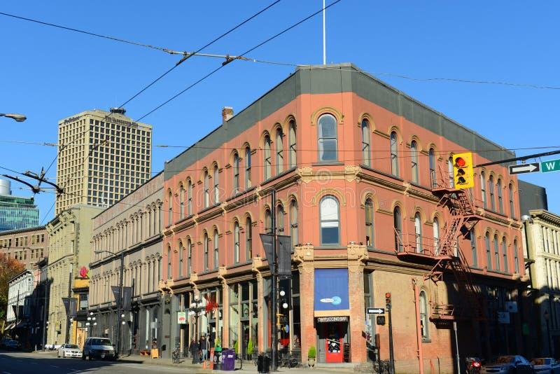 Benzynowy miasteczko, Vancouver miasto, BC, Kanada zdjęcia royalty free