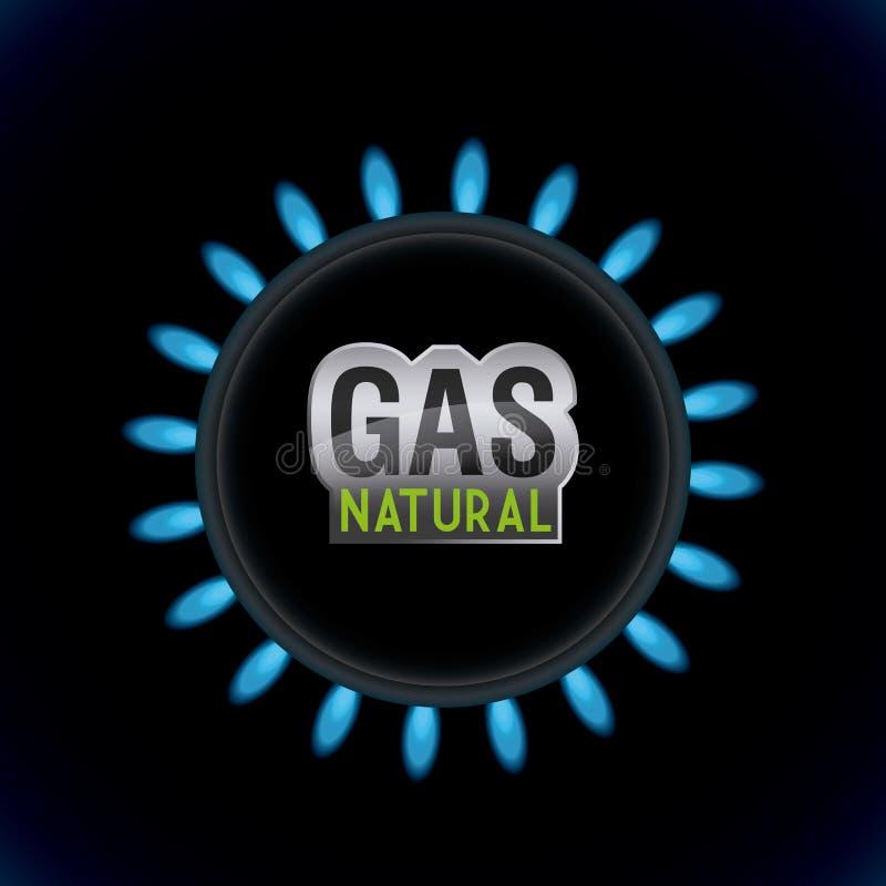 Benzynowy naturalny projekt royalty ilustracja