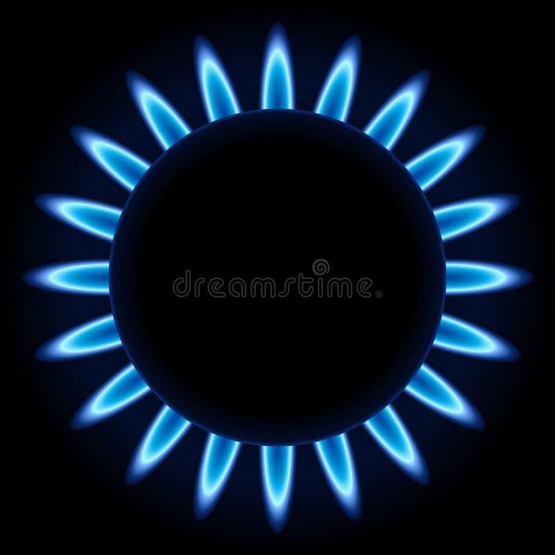 Benzynowy palnik błękitny płomienie royalty ilustracja
