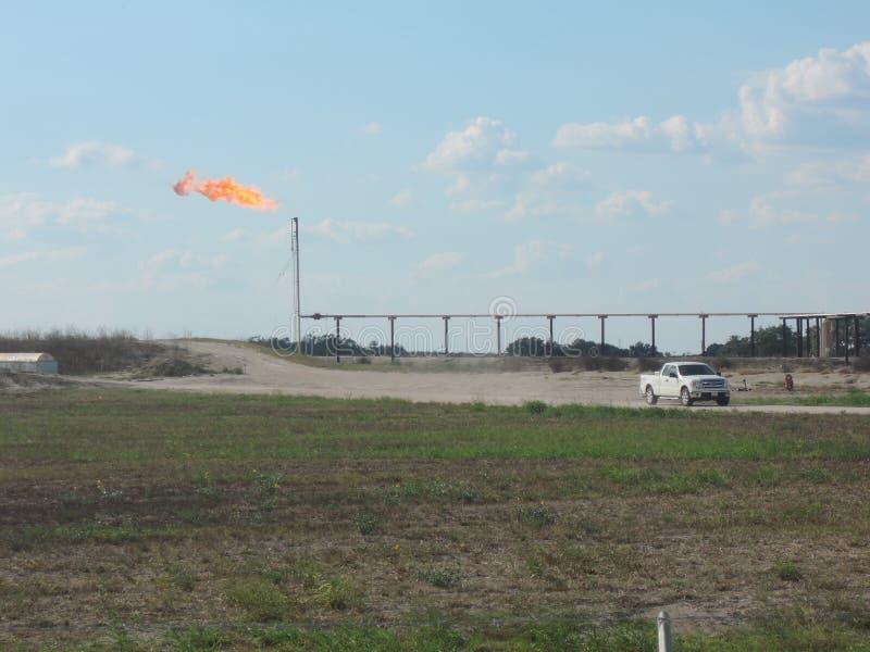 Benzynowy raca w Zachodnim Teksas obrazy stock
