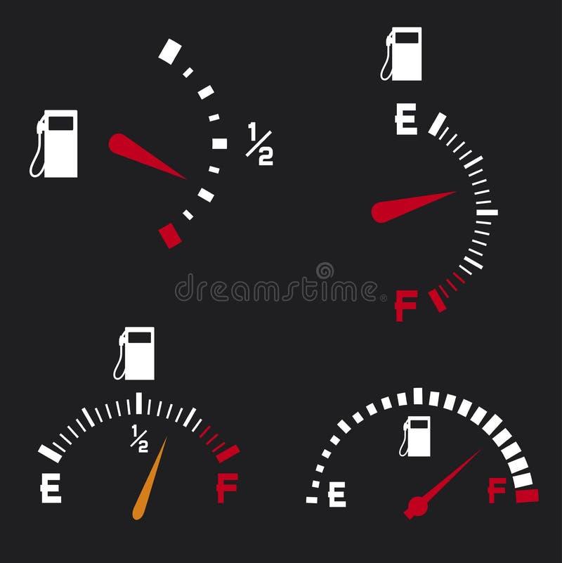 Benzynowy wymiernik royalty ilustracja